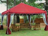 10 X 10 GARDEN PARTY CANOPY(RED)