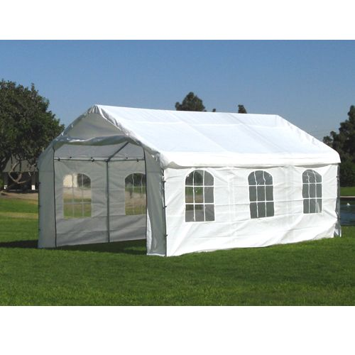12 X 20 1 5 8 Enclosed Canopy with French Windows