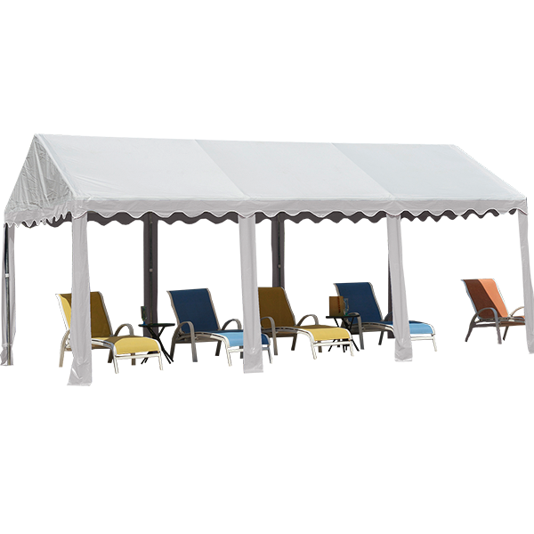 """10' X 20' / 1.5"""" Dia. Frame Garden Party Tent with White Color"""