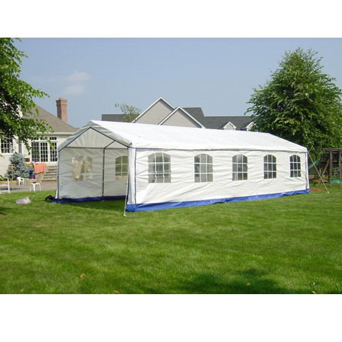 "Decorative Style 14' X 32' 1 5/8"" Dia. Frame Enclosed Party Tent"