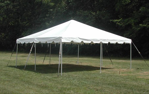 """Celina Commercial Duty 15' X 15' / 2"""" Dia. Classic Frame Party Tent with Galvanized Poles"""