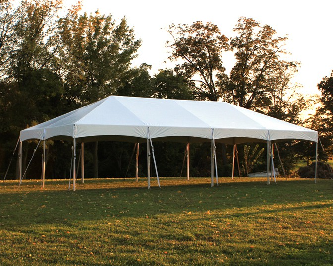 Celina Commercial Duty 20u0027 X 40u0027 / 2  Dia. Master Series Cinch Top Frame Tent with Galvanized Poles & Commercial Duty 20u0027 X 40u0027 / 2