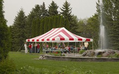 20ft X 30ft - Eureka Traditional Party Tent with Translucent Top