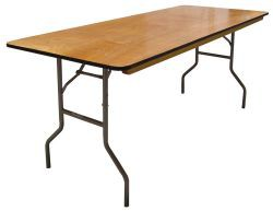 30 Inch X 72 Inch Folding Plywood Banquet Table - 20 Units