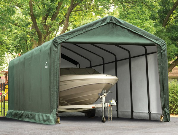 12' X 30' X 11' Square Tube Shelter Garage