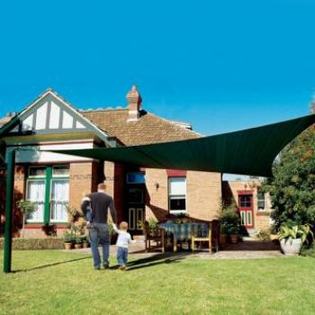 "17'9""  SQUARE SUN SHADE SAIL (Brunswick Green)"
