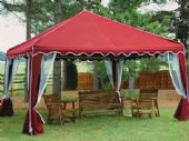 10ft X 10ft GARDEN PARTY CANOPY(RED)