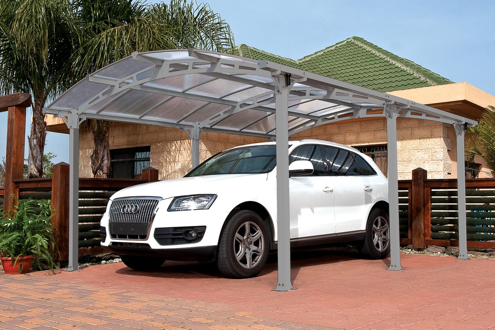 5 Car Metal Carport : Quot  arcadia steel car port w polycarbonate