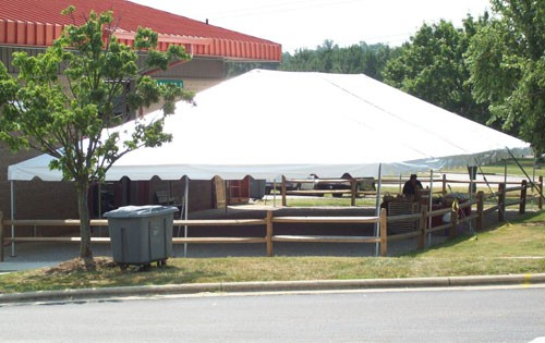 "Celina Commercial Duty 40' X 100' / 2"" Dia. Classic Frame Party Tent with Aluminium Poles"