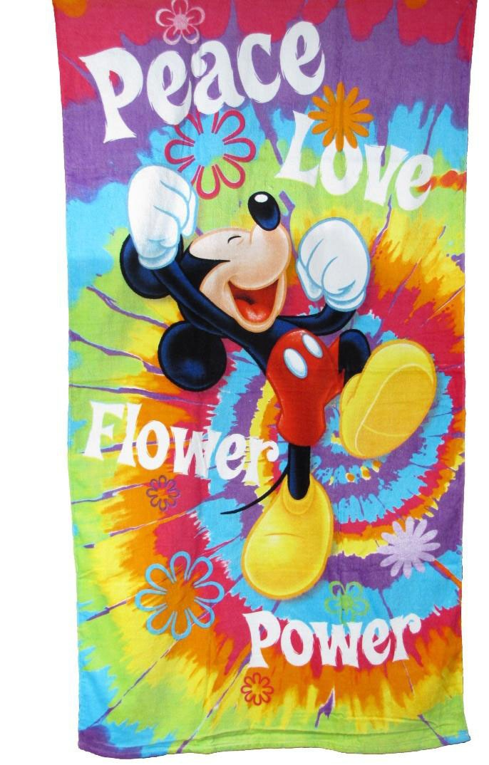 Mickey Mouse Peace Character Beach Towel