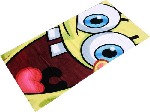 Sponge Bob Big Smile Character Beach Towel
