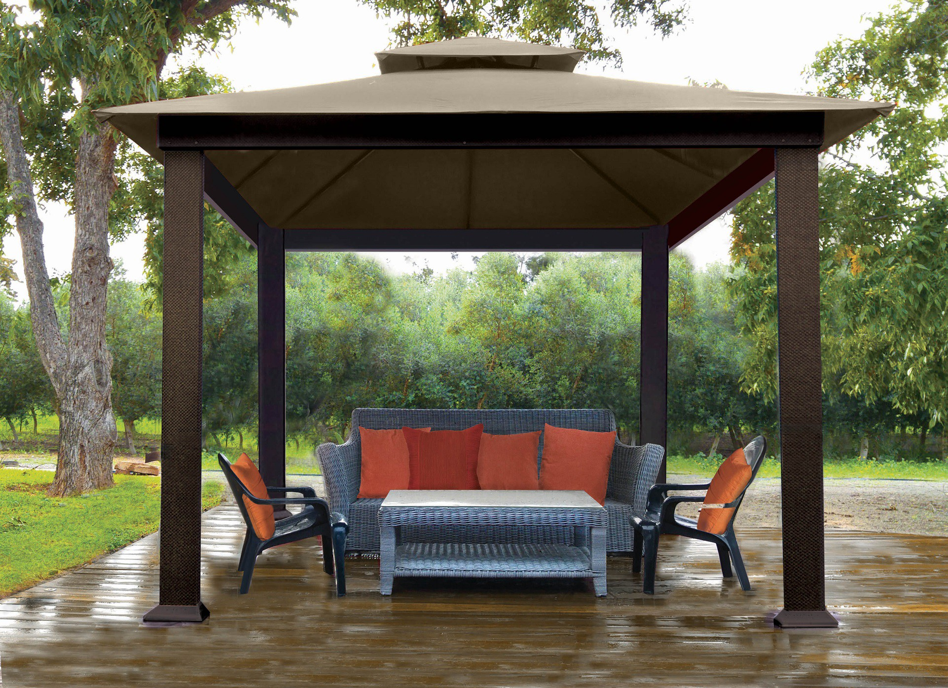 STC 10ft X 10ft Gazebo with Sunbrella Canopy