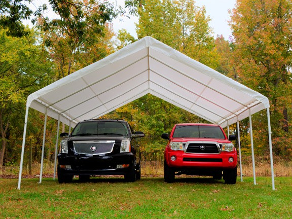 "18' X 27' / 2"" Commercial Duty Valanced Canopy"