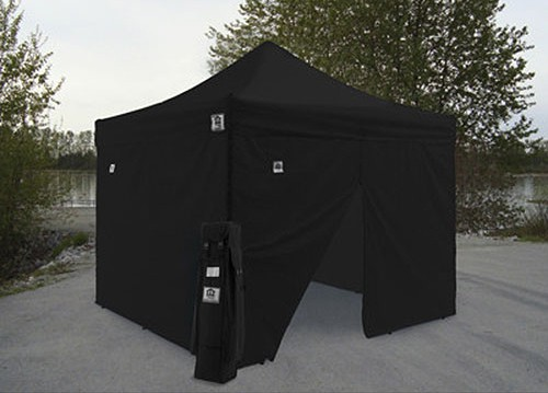 Impact 10' X 10' AOL with 4 Sidewalls Package Deal - Black