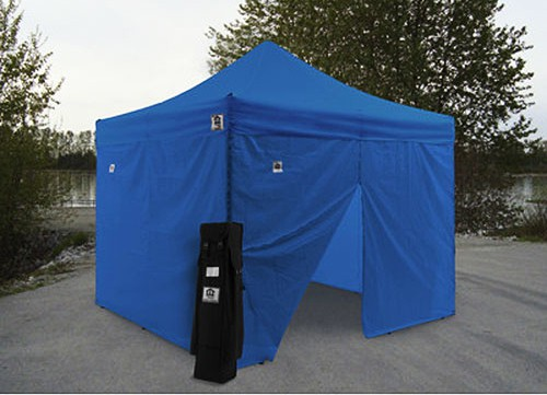 Impact 10' X 10' AOL with 4 Sidewalls Package Deal - Blue