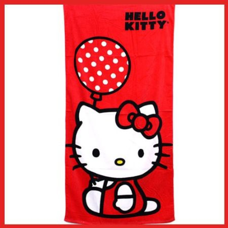 Hello Kitty Balloon Licensed Beach Towel