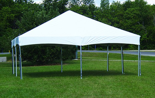 """Celina Commercial Duty 20' X 20' / 2"""" Dia. Master Series Cinch Top Frame Party Tent with Galvanized Steel Poles"""