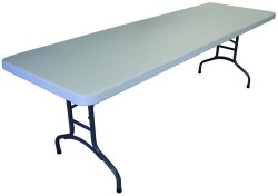 30 Inch X 96 Inch Plastic Folding Table - 2 Units