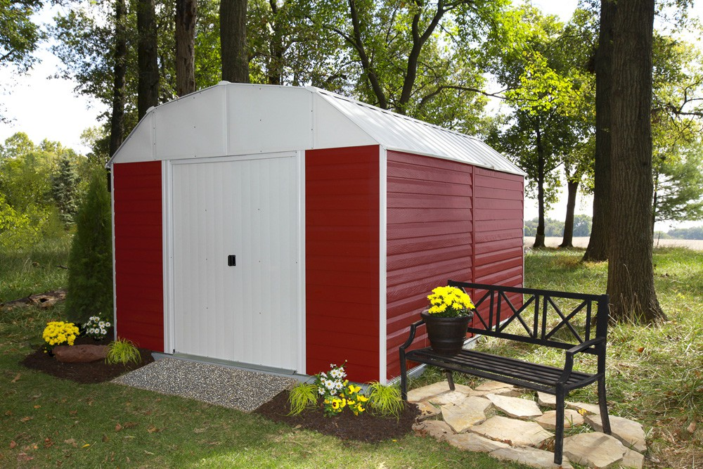 Red Barn 10 ft. X 14 ft. Steel Storage Shed
