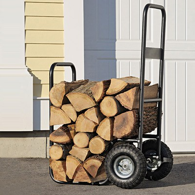 Rolling Firewood Cart