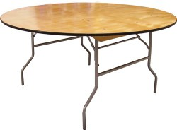 72 Inch Round Folding Plywood Table - 20 Units