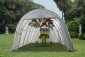 LARGE BACKYARD ROUND GREENHOUSE 12'W X 24'L X 8'H