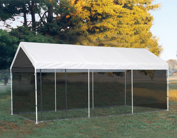 10 20 Canopy Enclosure Kit : Valance top canopy with screen enclosure kit