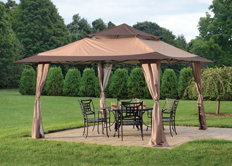 13' X 13' Royal Pavilion Pop-Up Gazebo - Desert Bronze