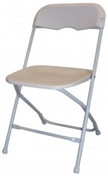 Steel Folding Chair with Poly Seat and Back - 8 Units