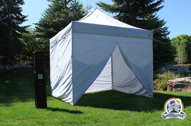 Undercover 10' X 10' Aluminium Pop-Up with 4 Sidewalls Package Deal (Refurbished)