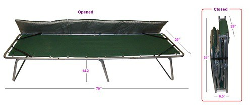 Extra Larg Folding Comfort Cot with Removable Mattress