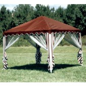10 X 10 GARDEN PARTY CANOPY COVER(BURGUNDY)