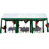 "10' X 20' / 1.5"" Dia. Frame Garden Party Tent with Green/White Color"