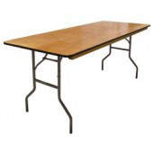 30 Inch X 96 Inch Folding Plywood Banquet Table - 20 Units