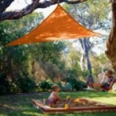9'10&quot;  TRIANGLE SUN SHADE SAIL (Terracota Orange)