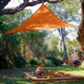 11'10&quot;  TRIANGLE SUN SHADE SAIL (Terracota Orange)
