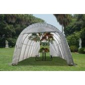 LARGE BACKYARD ROUND GREENHOUSE 12'W X 20'L X 8'H