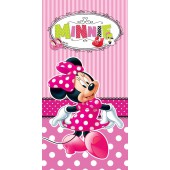 Minnie Mouse Pink Character Beach Towel