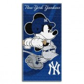 Mickey Yankees1 Disney Sports Beach Towel