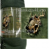 Breakthrough Deer Camping Fleece Throw Blanket