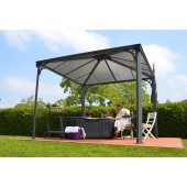 10ft X 10ft Palermo 3000 Gazebo W/ Polycarbonate Panels