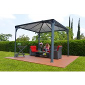 12ft X 12ft Palermo 3600 Gazebo W/ Polycarbonate Panels