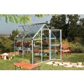 6' X 4' Harmony - Clear Glazing GreenHouse Silver