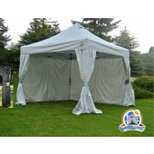 Undercover 10' X 10' Aluminum Commercial Pop-Up w/CRS Polyester Wall Enclosure