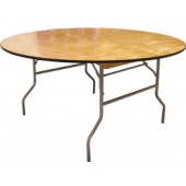 60 Inch Round Folding Plywood Table - 20 Units
