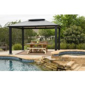 STC 10ft X 13ft Santa Monica Gazebo with Hard Top Roof