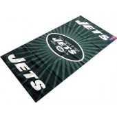 New York Jets Sunburst NFL Sports Beach Towel