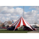Celina TP Series Pole Tent with Striped Top - 52ft Diameter