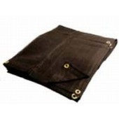 06 X 20 Heavy Duty Black Mesh Tarp