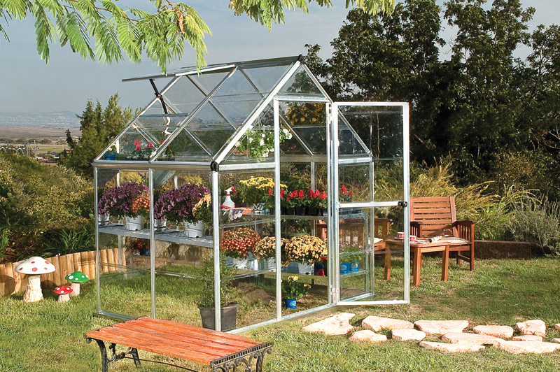 6 X 4 Harmony - Clear Glazing GreenHouse Silver
